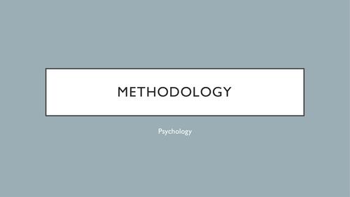 Edexcel A-level year 1 Psychology Methodology Revision Powerpoint
