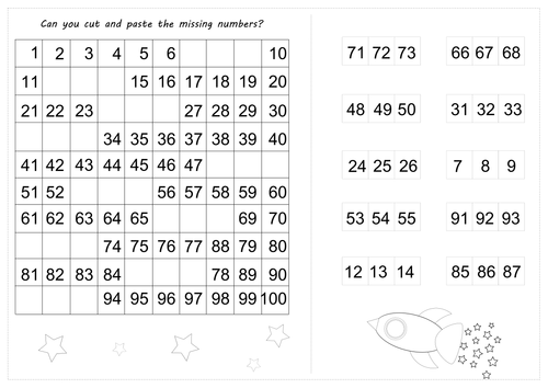 Missing number worksheets by anncarcat | Teaching Resources