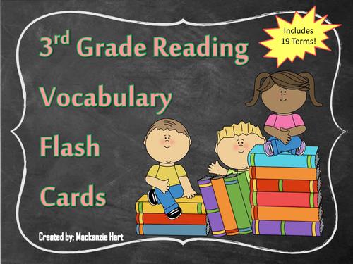 3rd Grade Reading Vocabulary Cards