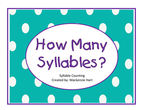 syllable counting worksheets by mlhart2011 teaching resources. Black Bedroom Furniture Sets. Home Design Ideas