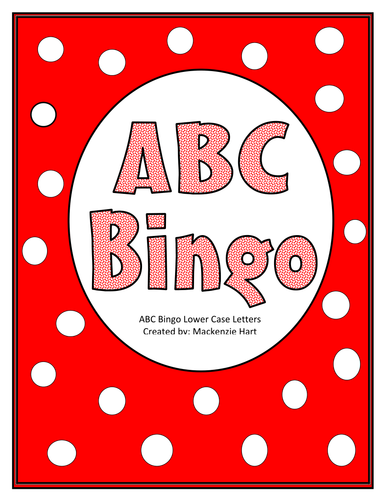 ABC Bingo Lower Case Letters