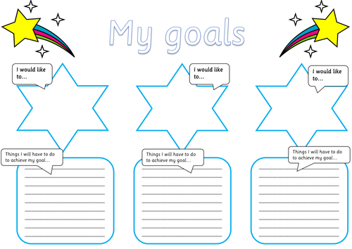 Goals & Steps to Achieve Posters