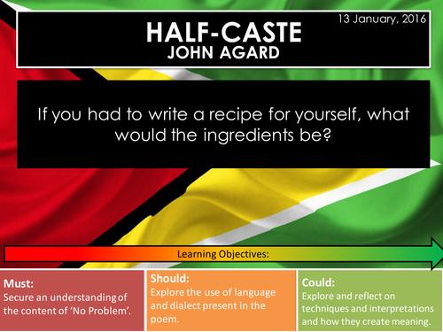 Half-Caste - John Agard (Edexcel Conflict Poetry Cluster GCSE 1-9)