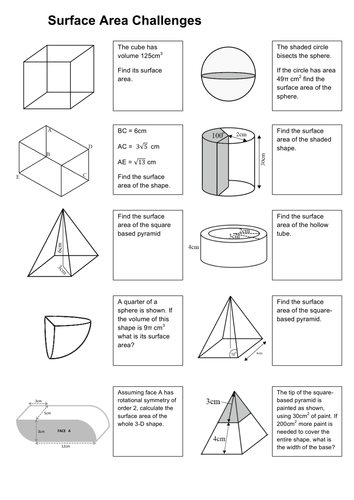 Surface Area Challenges