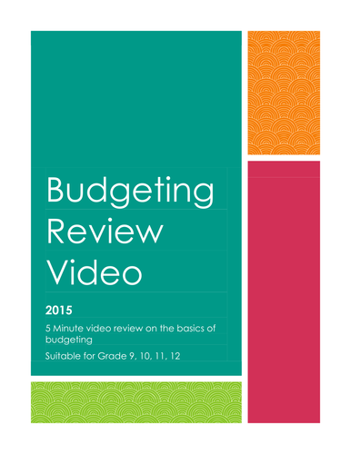 Budgeting Review Video