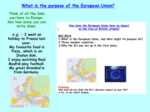 Introduction to the EU