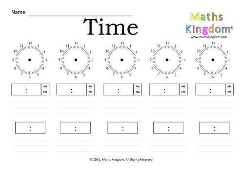 Clock... Time... 24hr... Time in words ... Worksheet by ...