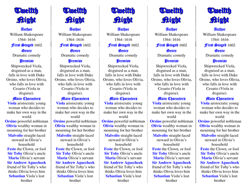 twelfth night by william shakespeare essay titles by tesenglish  twelfth night ed of bookmarks plus great