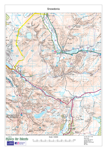 Glacial features on an OS map
