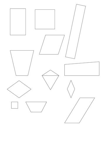 Quadrilaterals To Sort