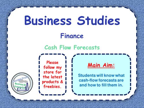 Cash Flow Forecasts - Finance - Business Studies - PPT & Worksheet ...