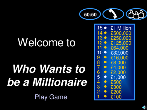 Year 7 ict powerpoint presentation project by paullee0123 html who wants to be a millionaire quiz toneelgroepblik Image collections