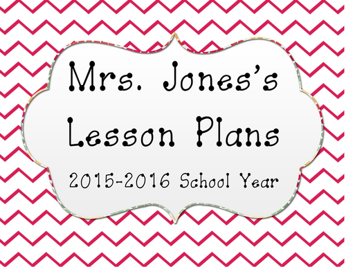 Personalized Elementary Weekly Lesson Planning Sheet