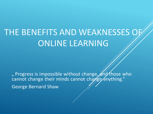 Benefits and Drawbacks  of Online Education