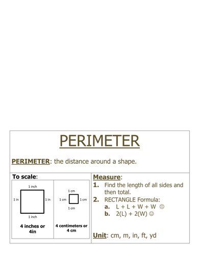 Foldable: Finding Perimeter