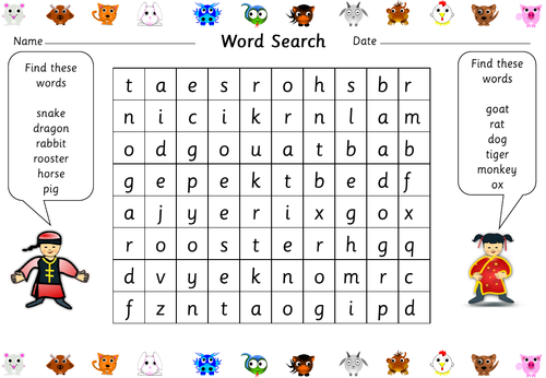 Chinese New Year Word Search By Helenmulroy
