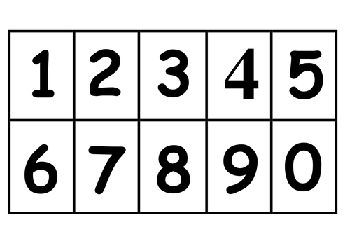 Sweet image for printable numbers 0-9