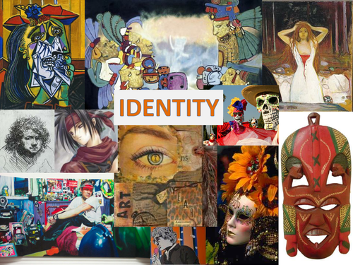 Art Project 'Identity ' - Powerpoint of a range of Artists, great for printing out and laminating.