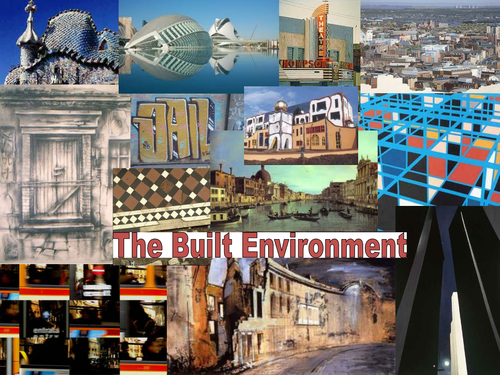 Art Project 'The Built Environment ' - 13 artists/designers slides, great for  laminating.