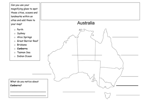 Map Of Australia Images.Map Of Australia To Label By Holt Becci Teaching Resources