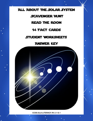 Solar System Scavenger Hunt Read The Room Grades 3 6 By