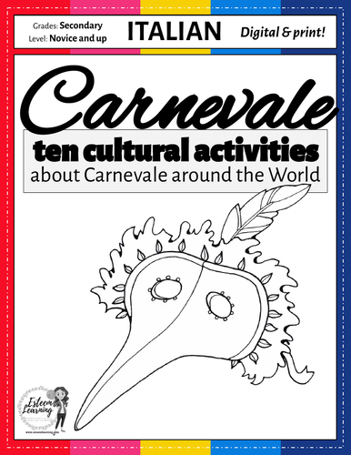 Italian Carnevale - Seven Cultural Writing, Speaking and Listening Activities