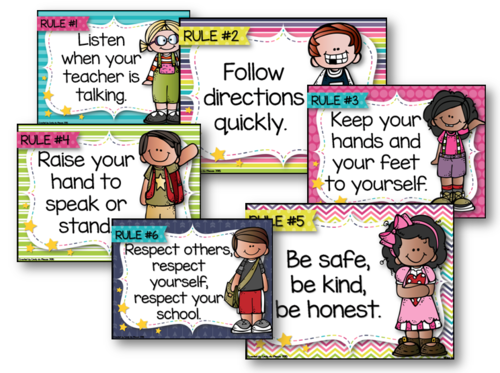 Classroom Rules Posters 11196583 on Preschool Art Lessons