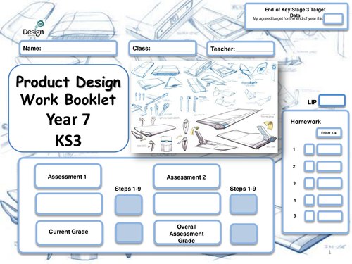 Product Design Booklet with STEPS for year 7