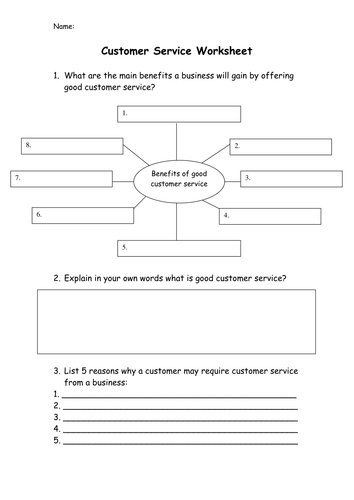 Customer Service - Operations - PPT & Worksheet - GCSE Business Studies