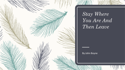 Stay Where You Are And Then Leave by John Boyne KS3