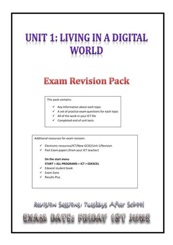 EDEXCEL GCSE ICT Revision Notes - Complete intensive notes