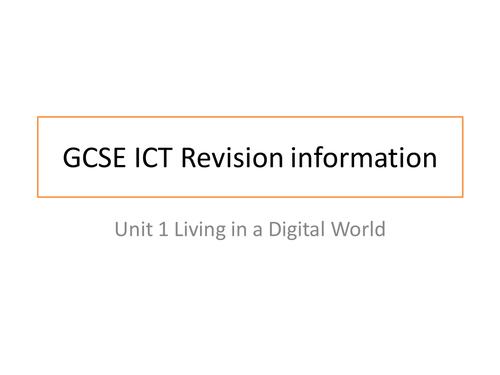 EDEXCEL GCSE ICT Intensive Revision session - content