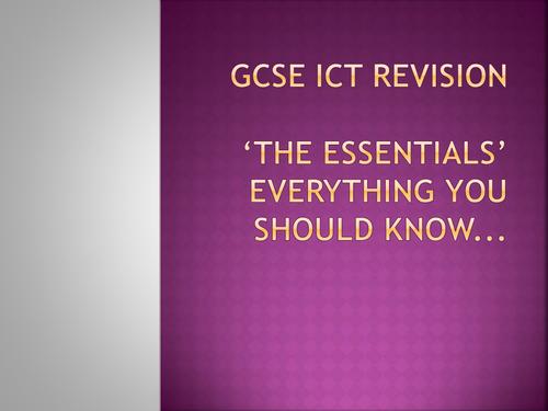 EDEXCEL GCSE ICT Intensive Revision Session - Exam prep/Questions
