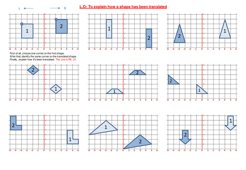 Translation worksheets by funkyblues Teaching Resources Tes – Axis of Symmetry Worksheet