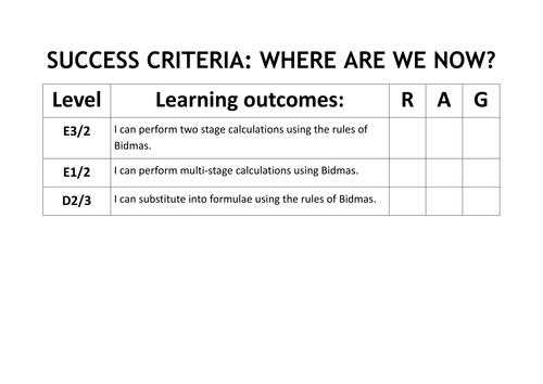 GCSE Bidmas/Bodmas - Notes and Worked Examples