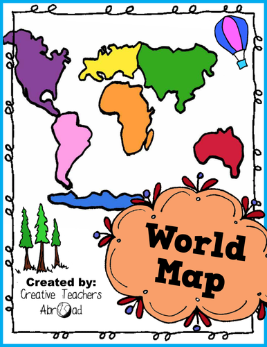 World Map Activity - Printable