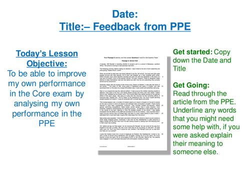 Cambridge iGCSE English 2015/16 Core Paper- Prepare for iGCSE Unit Based on Actual Materials