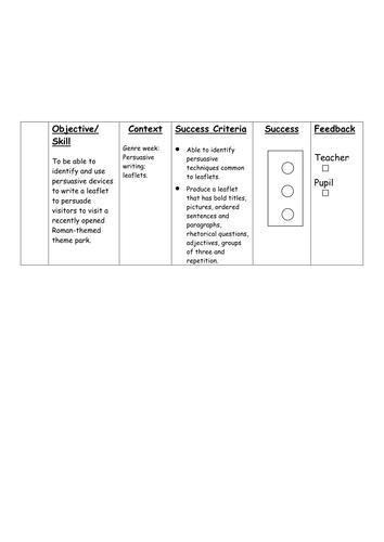 how to make success criteria