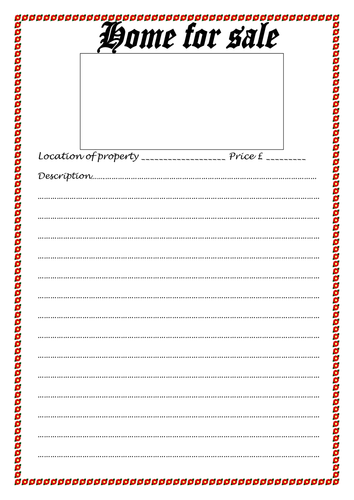 "Blank ""For Sale""template 