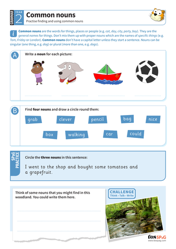 spag homework for year 2 nouns adjectives and noun phrases by tes homework teaching. Black Bedroom Furniture Sets. Home Design Ideas