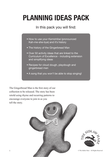 Curriculum of Excellence Planning Ideas Pack for The Gingerbread Man