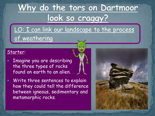 Differentiated Weathering lesson