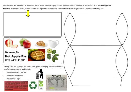 Apple pie packaging- net