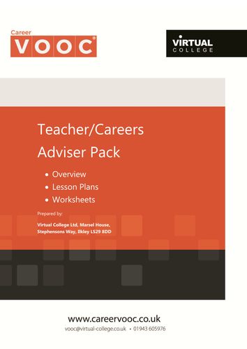 Interactive, Online Careers Guidance with Lesson Plan