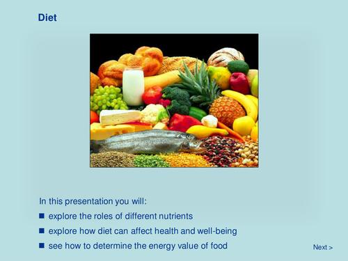 Diet (KS4)