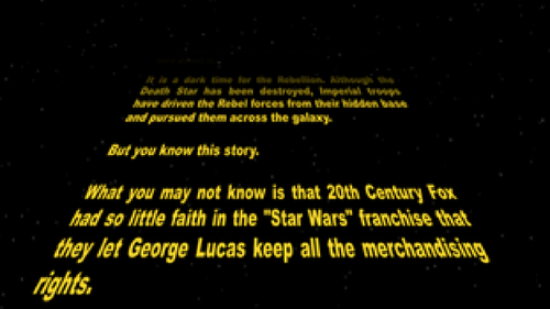 star wars crawl scroll text with music in powerpoint by nerdoftheday
