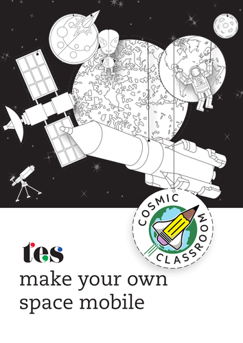 Cosmic Classroom Earth & Space Mobile - solar system cut-outs to decorate  classrooms