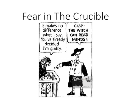 crucible guilt essays During the 1950's, mccarthyism and the red scare dominated society and culture, instilling the terror and suspicions of an invisible enemy on an uninformed people.