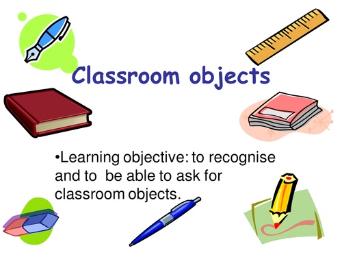School ( subjects-places at school-classroom objects)