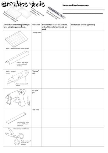 Graphics tools worksheet
